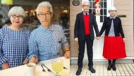 Cặp vợ chồng diện đồ đôi suốt 37 năm khiến nhiều người thích thú