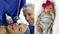 """Khoảnh khắc em bé mới sinh selfie cùng bố mẹ khiến dân mạng """"rần rần"""""""