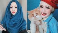 """Vẻ đẹp như """"búp bê sứ"""" của hot girl Hồi giáo khiến ai cũng khó rời mắt"""