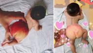 """Ngất ngây với loạt ảnh siêu dễ thương của các em bé """"mông trái đào"""""""