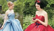 """""""Lóa mắt"""" trước bộ sưu tập váy cưới lộng lẫy của những công chúa Disney ngoài đời thực"""