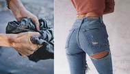 Ai mặc quần jean mà không biết bí kíp nới quần chật, thu quần rộng này thì quá phí