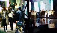 Vừa đặt chân đến Việt Nam, Wanna One đã đến ngay nhà hát Hoà Bình để tham gia tổng duyệt