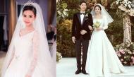 """Đọ váy cưới """"bạc tỉ"""" mà sao nữ Châu Á diện vào ngày trọng đại"""