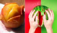 Gọt trái cây theo cách thông thường không sai nhưng đây mới là cách nhanh nhất