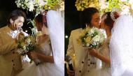 """Clip hot: Kelvin Khánh vừa hát vừa dìu Khởi My vào lễ đường và nụ hôn nồng thắm khiến fan """"rụng tim"""""""