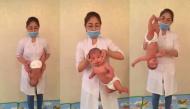 """Hàng triệu bà mẹ khóc thét khi thấy em bé mới sinh """"chơi trò cảm giác mạnh"""""""