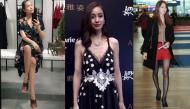 Khoảnh khắc mỹ nhân châu Á lộ thân hình gầy trơ xương khiến fan hoảng sợ