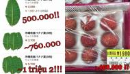 Khi lá chuối, quả dại của Việt Nam được đăng bán với giá cả triệu đồng