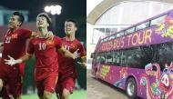 Check ngay lịch trình xe bus 2 tầng mui trần diễu hành chào đón U23 Việt Nam khi về nước