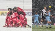 Nhìn những trận cầu dưới màn mưa tuyết dày đặc mới thấy các cầu thủ U23 VN quá tuyệt vời