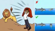 """12 kĩ năng cần biết khi rơi vào tình thế """"ngàn cân treo sợi tóc"""" với động vật"""