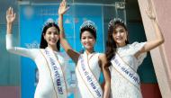 Top 5 Hoa hậu Hoàn vũ Việt Nam 2017 cùng Hoa hậu Hoàn vũ Thế giới 2008 đến thăm tỉnh Khánh Hòa