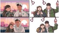 Bộ tranh tình yêu: Những khoảnh khắc tình bể bình của các cặp đôi làm tan chảy trái tim người xem