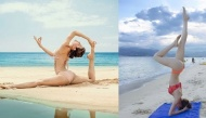 """""""Nóng bỏng mắt"""" trước đường cong chuẩn đến từng milimet khi tập yoga của sao Việt"""
