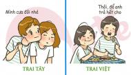 """So sánh những điểm khác nhau """"trời - vực"""" nhất giữa trai Tây và trai Việt"""
