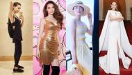 """Ngỡ ngàng phong cách thời trang mỹ nhân Việt lúc đi diễn, ở nhà và du lịch """"đối chọi"""" ra sao?"""