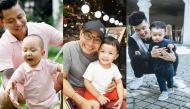 """Hội những """"ông bố bỉm sữa"""" chăm con khéo bậc nhất của showbiz Việt"""