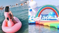 Nhà phao Kì Lân khổng lồ hot nhất hè này dành cho những ai yêu biển, bạn có đi thử chưa?