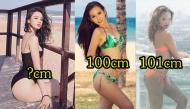 """Top mỹ nhân Việt sở hữu vòng ba """"cực khủng"""" 100cm trở lên chẳng thua kém Kim Kardashian"""