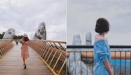 """Bắt sóng tọa độ sống ảo mới toanh tại Đà Nẵng với cây cầu vàng được nâng niu bởi """"bàn tay Thanos"""""""