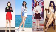 Những khoảnh khắc khoe chân đẹp nuột nà của các mỹ nhân Hoa Ngữ