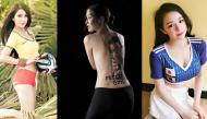 """""""Nóng bỏng mắt"""" với loạt ảnh mỹ nữ Việt diện bikini, """"áo không khí"""" cổ động bóng đá"""