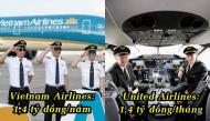 Soi lương phi công của các hãng hàng không Việt Nam và một số hãng trên thế giới