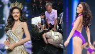Tân Hoa hậu Hòa bình Thái Lan quỳ rạp dưới chân đấng sinh thành để tỏ lòng biết ơn