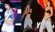 """Hết đẩy ngực lại lột áo khoe nội y ngay trên sân khấu, Hyuna khiến fan """"khóc thét"""""""