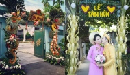 Những cổng cưới công phu đến ngỡ ngàng chỉ cần nhìn là mê, nhất là cổng lá dừa