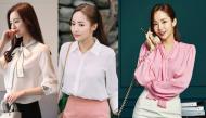 """5 kiểu áo đơn giản đạt chuẩn ĐẸP - SANG của """"Thư ký Kim"""" mà chị em có thể học theo"""