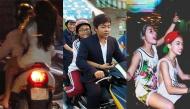 """Sao Việt và những hình ảnh """"xấu xí"""" khi tham gia giao thông"""