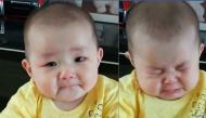 Biểu cảm ai nhìn cũng yêu của em bé khi nghe mẹ bảo không thương nữa