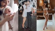 """Ảnh hot sao Việt: Cặp đôi Thành – Diễm khoe quý tử, Jun Vũ diện bikini khiến fan """"mất máu"""""""