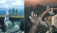 """Cầu Vàng Đà Nẵng tiếp tục được báo nước ngoài nhận xét đẹp đến """"nghẹt thở"""""""