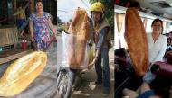Cộng đồng mạng phát sốt trước ổ bánh mì với kích thước khổng lồ ở An Giang