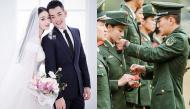 Hôn nhân tựa ngôn tình của Trương Hinh Dư: Nguyện tay phải nghiêm chào Tổ quốc, tay trái nắm tay em