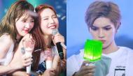 """Idol lần đầu nhìn thấy lightstick của nhóm: Phản ứng cũng """"mặn mòi"""", thích thú có kém gì fan đâu"""