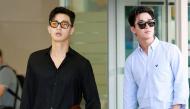 """Park Seo Joon mang dép xỏ ngón vẫn nổi bần bật tại sân bay, đọ vẻ sang chảnh với """"rich kid"""" Henry"""