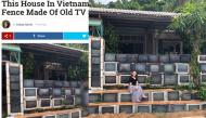 Ngôi nhà độc lạ rào bằng tivi cũ ở Phú Quốc lên báo nước ngoài