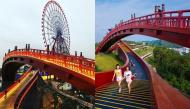Sau Cầu Vàng, lại xuất hiện 1 cây cầu đỏ rực ở Hạ Long khiến giới trẻ nô nức check-in