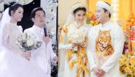Ảnh hot sao Việt: Lan Khuê diện áo dài thêu sợi vàng 18K, Nhã Phương bật khóc trong lễ cưới