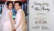 Cận cảnh thiệp cưới tinh tế của cặp đôi Trường Giang – Nhã Phương