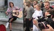 """Dân mạng """"ghen tỵ"""" khi xem clip Justin Bieber ngồi giữa phố London gảy đàn hát tặng Hailey Baldwin"""