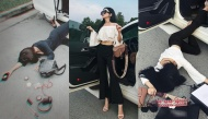 Trào lưu 'Ngã sấp mặt' đang gây sốt giới trẻ: Sao Việt cũng nhanh chóng mượn trend khoe của