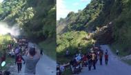 Hoảng hồn với đoạn clip người dân liều mình đứng xem sạt lở đất tại Sơn La