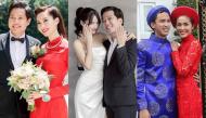 Diễn biến trước giờ G đám cưới của loạt sao Việt: Người đóng cửa im lìm, người lấy ô đen che chắn