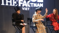 """Màn """"chặt chém"""" không khoan nhượng giữa Võ Hoàng Yến và Song Hằng trong tập 1 The Face 2018"""