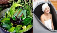 Cách nấu nước lá xông và tắm giúp mẹ sạch nhanh sản dịch, cơ thể thơm tho chẳng có mùi bà đẻ